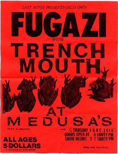 Fugazi, Trenchmouth punk hardcore flyer