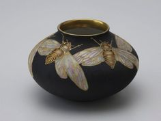 "lucasta: "" Vase with cicada design (1917), Delia Cadden """