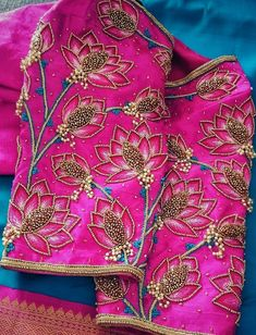 Wedding blouses Blouses are the heart of your wedding attire, so here's a board completely dedicated to wedding saree blouses for you to take inspiration! Wedding Saree Blouse Designs, Pattu Saree Blouse Designs, Blouse Designs Silk, Zardosi Work Blouse, Wedding Blouses, Lehenga Blouse, Simple Blouse Designs, Stylish Blouse Design, Maggam Work Designs