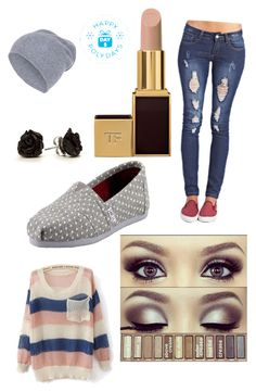 Day 3 by lulu-bell-7298 on Polyvore featuring Wet Seal, TOMS, Hallhuber, Tom Ford and PolydaysContest
