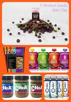 Chia seeds are an amazing pre- and post-workout snack and serve as a great fuel for exercise! Here are five ways to eat superfood chia! Healthy Food Options, Get Healthy, Healthy Eats, Healthy Foods, Healthy Recipes, Smoothie Recipes, Smoothies, Post Workout Snacks, Healthy Grains