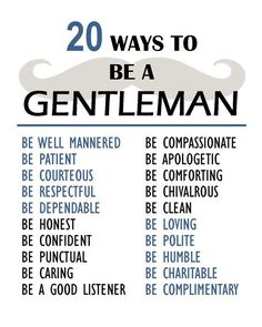 Rules To Being A Gentleman INSTANT DOWNLOAD 8x10 High Quality Printab…