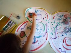 simply use posterboard, fold in half, cut butterfly shape and decorate. attach ribbon for straps.