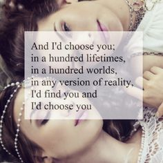 Yeah I'll always choose you it's me and you forever