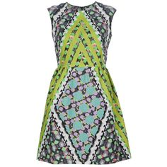 Peter Pilotto 'Tri' dress ($900) ❤ liked on Polyvore