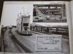 The old Clark bridge in Alton, IL, with the famous toll booth. This bridge was constructed in Alton Illinois, Southern Illinois, Chicago Pictures, Madison County, Lewis And Clark, Historical Photos, St Louis, Old Things, Street View