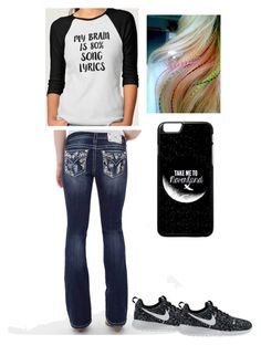 """""""Music is life"""" by karhoades-2 ❤ liked on Polyvore featuring Miss Me and NIKE"""