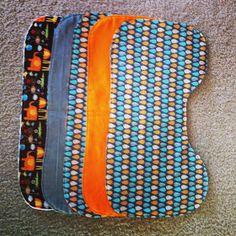 everywhere orange: Nesting for #2: sewing burp cloths