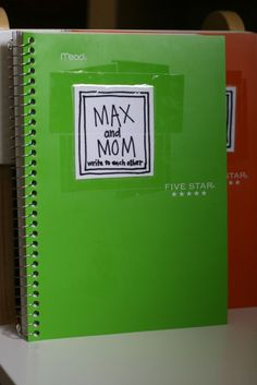 Back and forth journals for Mom and kids. I really love this idea for kids who keep their feelings inside.