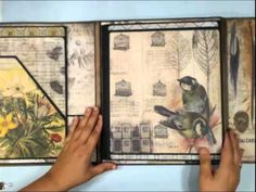 Verbal description of Tim Holtz's Collection Folio  Foto Folios by Kathy Orta. The directions are in documents.