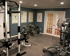 home gym in basement remodel