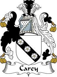 carey coat of arms / family crest from the website www.4crests.com #coatofarms #familycrest #familycrests #coatsofarms #heraldry #family #genealogy #familyreunion #names #history #medieval #codeofarms #familyshield #shield #crest #clan #badge #tattoo