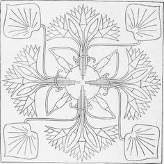 """Reduction of a Design for an Embroidered Sofa Cushion or Screen Panel, from """"Arts & Crafts Magazine"""" 1904."""