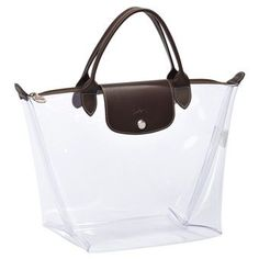 - Longchamp le pliage on It looks even better under the shining sun Fashion Handbags, Fashion Bags, Preppy Fashion, Clear Tote Bags, Transparent Bag, Backpack Purse, Womens Tote Bags, My Bags, Purses