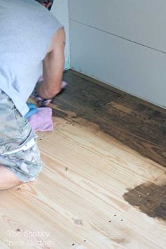 The Shabby Creek Cottage   Decorating   Craft Ideas   DIY: DIY wood floors (and an upcoming project sneak peek!)