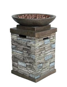 Bond 65046 Newcastle Liquid Propane Outdoor Firebowl with Lava Rocks and Cover - http://www.firepitsoutdoorheaters.com/bond-65046-newcastle-liquid-propane-outdoor-firebowl-with-lava-rocks-and-cover/