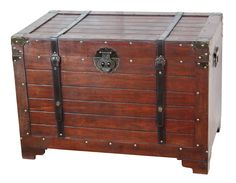 Barkhampstead Old Fashioned Wood Storage Trunk