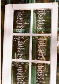 Window for menu