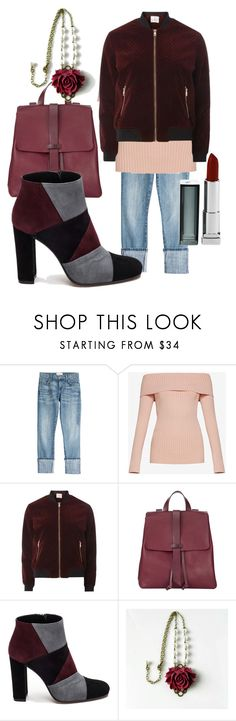 """days of wine and roses"" by glasspaperscizzors ❤ liked on Polyvore featuring Current/Elliott, BCBGMAXAZRIA, Dorothy Perkins, Jigsaw, Roberto Festa and Maybelline"