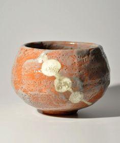 Japanese Red Raku tea bowl Akaraku chawan by Kato Shuntei Masuda Donnou