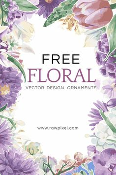 Free Flower Clipart, Free Printable Art, Free Printables, Digital Paper Free, Floral Printables, Free Graphics, Free Prints, Watercolor Flowers, Watercolor Art
