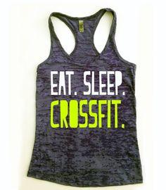 Eat Sleep Crossfit // Crossfit Tank Top //  Eat by Built2InspireU, $22.00