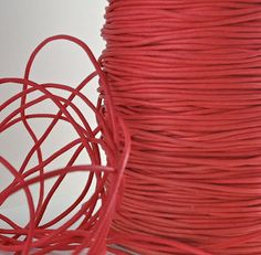 18ft Cord Waxed Cotton Red String Lace Jewelry Cord Macrame String for Bracelet and Necklace. $1.15, via Etsy.