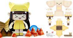 kawaii paper craft toys