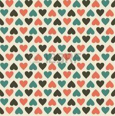 motif coeur: coeurs époque seamless pattern
