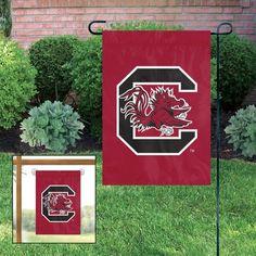 South Carolina USC Gamecocks Applique Embroidered Window Or Yard/Garden Flag