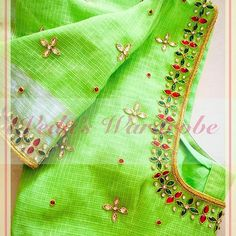 End Customization with Hand Embroidery & beautiful Zardosi Art by Expert & Experienced Artist That reflect in Blouse , Lehenga & Sarees Designer creativity that will sunshine You & your Party. Hand Work Blouse Design, Kids Blouse Designs, Simple Blouse Designs, Pattu Saree Blouse Designs, Silk Saree Blouse Designs, Bridal Blouse Designs, Maggam Work Designs, Designer Blouse Patterns, Aari Embroidery