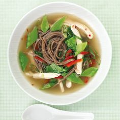 The light, flavorful mushroom soup is the perfect precursor to any Asian-inspired meal.