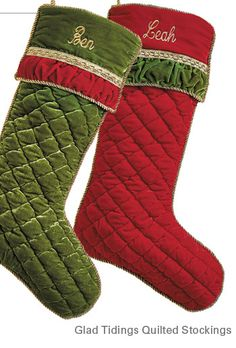 Glad Tidings Quilted Christmas Stocking Christmas Time Is Here, Christmas Holidays, Quilted Christmas Stockings, Holiday Ideas, Holiday Decor, New Theme, Christmas Projects, Tis The Season, Quilting Ideas