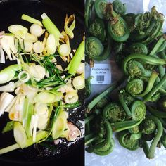 Spring is in the air and the #fiddlehead ferns have arrived at our Seattle store! We like them steamed and then sautéed with butter Rosemary green garlic and a little lemon zest. Yum! Pick some up today and add a new shade of green to your dinner plate.