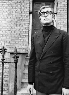 Michael Caine visits Urlwin Street, Camberwell, London, where he once lived. Photographed for the ITV documentary 'Candid Caine,' 1969.