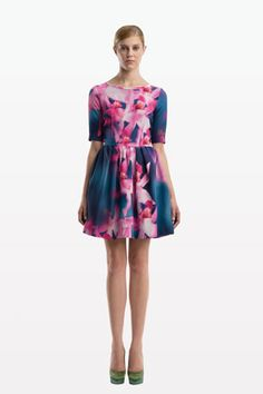 Orchid watercolor silk dress-add a touch of green with some fabulous heels .Peter Som Resort 2012-