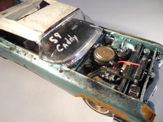 1959 Cadillac 1/24 scale model car in green by classicwrecks, $80.00