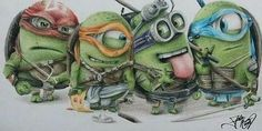 This Picture Of Minions As Teenage Mutant Ninja Turtles Is Perfect