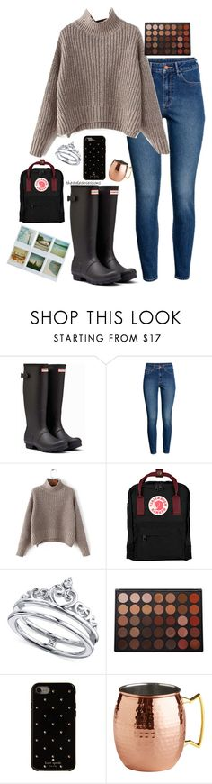 """Fall Travel"" by thestyleobsessions ❤ liked on Polyvore featuring Hunter, H&M, Fjällräven, Unwritten, Polaroid, Morphe, Kate Spade and Pier 1 Imports"