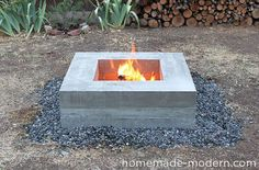 How to make a Concrete Fire Pit by Ben Uyeda of HomeMade Modern