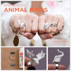 Animal Ring DIY Tutorial by Trinkets in Bloom #diy