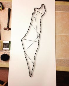 This was a great DIY project I just finished for the Hillel student lounge! Student Lounge, Lounge Design, String Art, Diy Art, Israel, Arrow Necklace, Diy Ideas, Minimalist, Things To Come