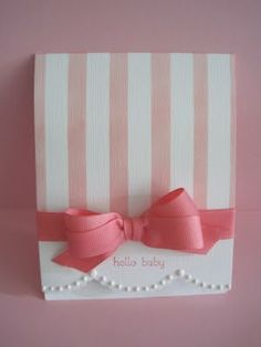 Stampin' Up! Baby Cards I'm in Haven: One Layer Wednesday: Baby Cakes Baby Girl Cards, New Baby Cards, Baby Shower Cards, Card Tags, Cute Cards, Cards Diy, Creative Cards, Kids Cards, Greeting Cards Handmade