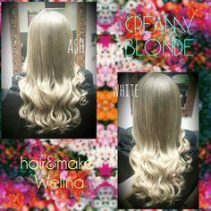 ❤Creamy ash blonde❤ クリーミーなアッシュブロンド✨ ブリーチonカラー ヘアカラー ダブルカラー ハイトーン Hightone Ash Blonde White ホワイトアッシュ 外人さんカラー Hairsalon Welina Hitomi.yanagida Myworks Japan Hairstyles Haircolor Hairdresser My works
