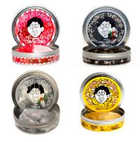 At Green Rainbow Revolution: Crazy Aaron's Thinking Putty // Limited Edition Holiday Colors // Christmas // 4-pack Holiday Mini Tins including Tinsel, Candy Cane, 5 Golden Rings and Lump of Coal