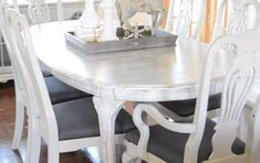 My dining room needs a new look, STAT! I had purchased two pub style table years ago (they were cheap an… Build A Farmhouse Table, Farmhouse Chairs, Farmhouse Style, Glass Table, A Table, Dining Table, Furniture Fix, Furniture Makeover, Pub Style Table