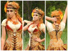 Fire Floral Overbust Archer Corset Damsel in this Dress