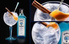 A unique twist on a beautiful classic. #BOMBAYSAPPHIRE Ultimate Gin & Tonic with cinnamon & orange peel.