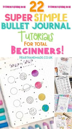 Want to find some insanely simple bullet journal doodle tutorials? These beginner friendly doodles are so easy to recreate inside your Bullet Journal! Bullet Journal Simple, Bullet Journal For Beginners, Bullet Journal Hacks, Bullet Journal Notebook, Bullet Journal Ideas Pages, Bullet Journal Layout, Bullet Journal Inspiration, Journal Pages, Bullet Journals