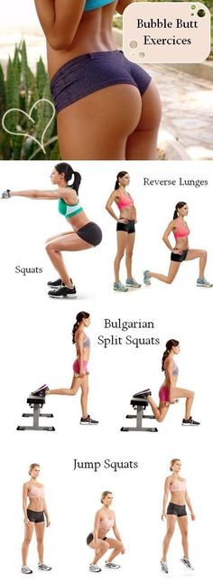 Yoga Fitness Plan - Bubble butt exercise workout plan - Get Your Sexiest. Body Ever!…Without crunches, cardio, or ever setting foot in a gym! Fitness Workouts, Fitness Motivation, Sport Fitness, Body Fitness, At Home Workouts, Health Fitness, Fitness Weightloss, Butt Workouts, Bubble Butt Workout